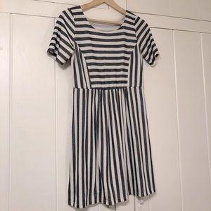 JMODE grey stripe babydoll dress